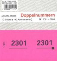 Doppelnummer eosin 120x60mm 2001-3000