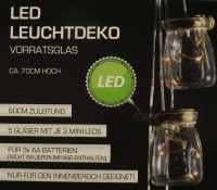 LED Leuchtdeko Vorratsglas