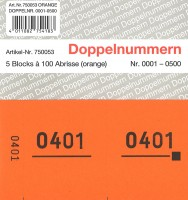 Doppelnummer orange 120x60mm 1-500