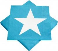 Servietten türkis mit Stern