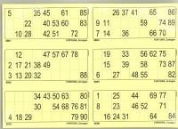 6er Lottoblätter gelb