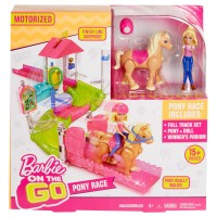 BARBIE ON THE GO On The Go Pony-Rennen
