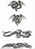 Airbrush Tattoo Drachen