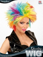 Regenbogenfarbige Punk-Perücke