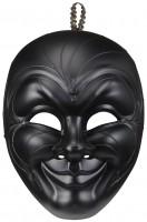 Schwarze Dark Man Maske