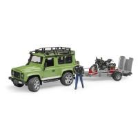 Bruder Land Rover Station Wagon mit Anhänger,