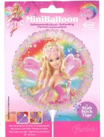 Miniballon Barbie mit Stab