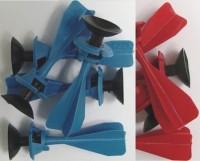 5 Pfeile im Beutel rot&blau zu Armbrust