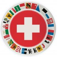Schweizer Partyteller mit Kantonen