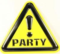 Achtung Party - Wanddeko