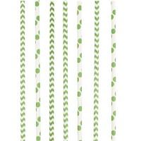 Amscan 24 Papier Strohhalme grün
