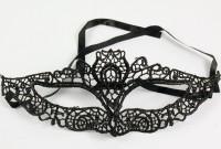 Schwarze Domino Augenmaske