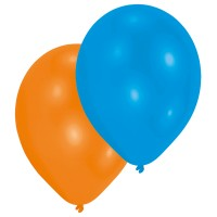 10 Ballone metallic asssortiert