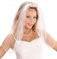 Tiara mit Brautschleier