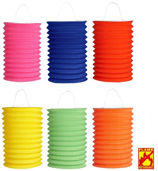 Lampion uni 6 Farben