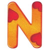 Holzbuchstaben N, selbstklebend