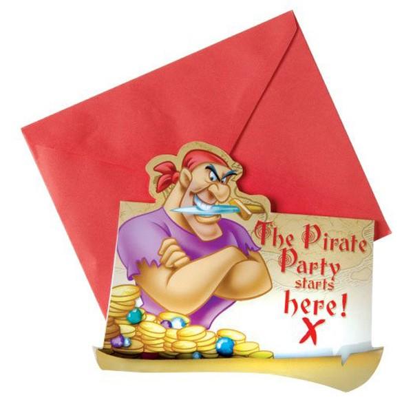 6 Einladungs-Sets Pirat2