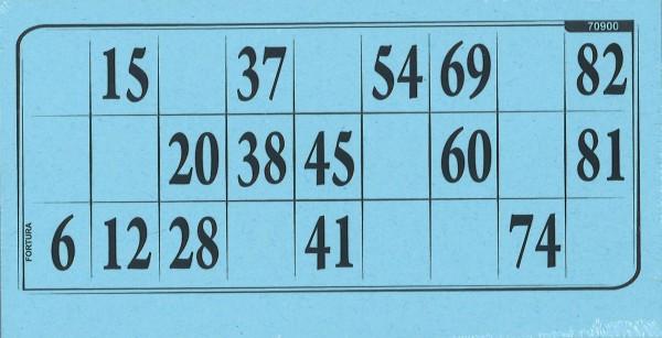 Lottokarten blau