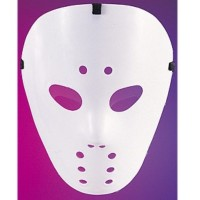 Fasnacht Maske Hockey weiss