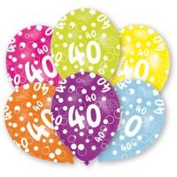 Amscan 6 Ballone Zahl 40 27.5cm