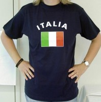 T-Shirt Italien dunkelblau L