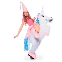 FOLAT Einhorn Kostüm aufblasbar