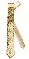 Goldene Pailetten-Krawatte