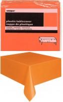 Orange Plastiktischdecke