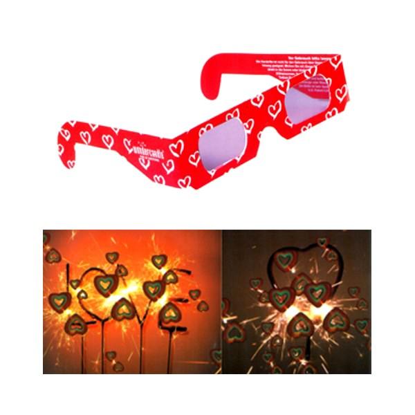 Wunderkerzen Set Herzbrille