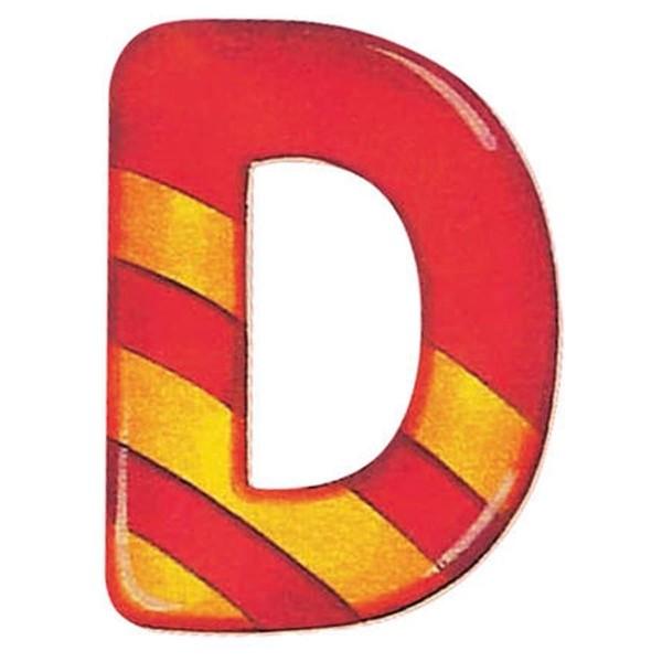 Holzbuchstaben D, selbstklebend