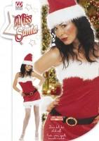 Kostüm Miss Santa Flanell XL