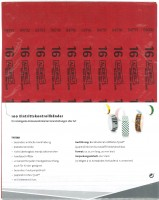 Kontrollbänder Tyvec ab 16 rot