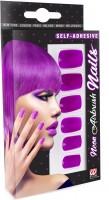 Neonviolette Fingernägel