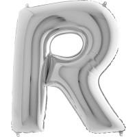 Silberfolienballon Buchstabe R