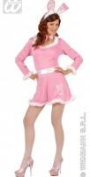 Kostüm Hasengirl rosa M mit Haarreif/Ohren