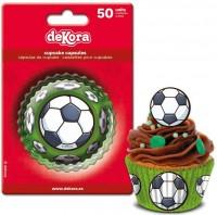 Muffin-Papierförmchen Fussball