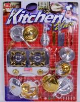 Küchenset silber/gold