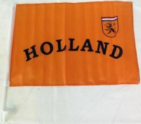 Autofahne Holland orange