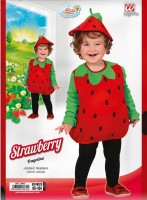 Kinderkostüm Erdbeere 1 bis 3 Jahre