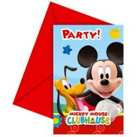 Mickey Mouse 6 Einladung-Set M.Mouse 9x14cm