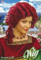 Perücke Baroque Queen rot