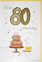 Riesenkarte Geburtstag 80 Jahre