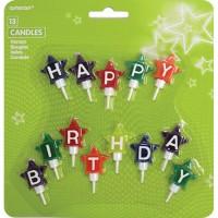 13 Kerzen Sterne Happy Birthd.