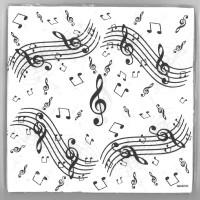 Servietten mit Musiknoten