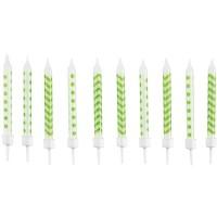 Amscan 10 Geburtstagskerzen kiwi 6.3cm
