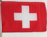Fahne Schweiz am Holzstab
