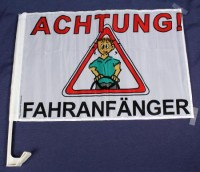 """Autofahne """"Achtung Fahranfänger"""""""