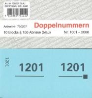 Doppelnummer blau 120x60mm 1001-2000