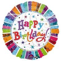 Silberfolienballon Happy Birthday