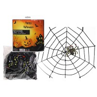 Fasnacht Spinnennetz Gigant 150cm schwarz